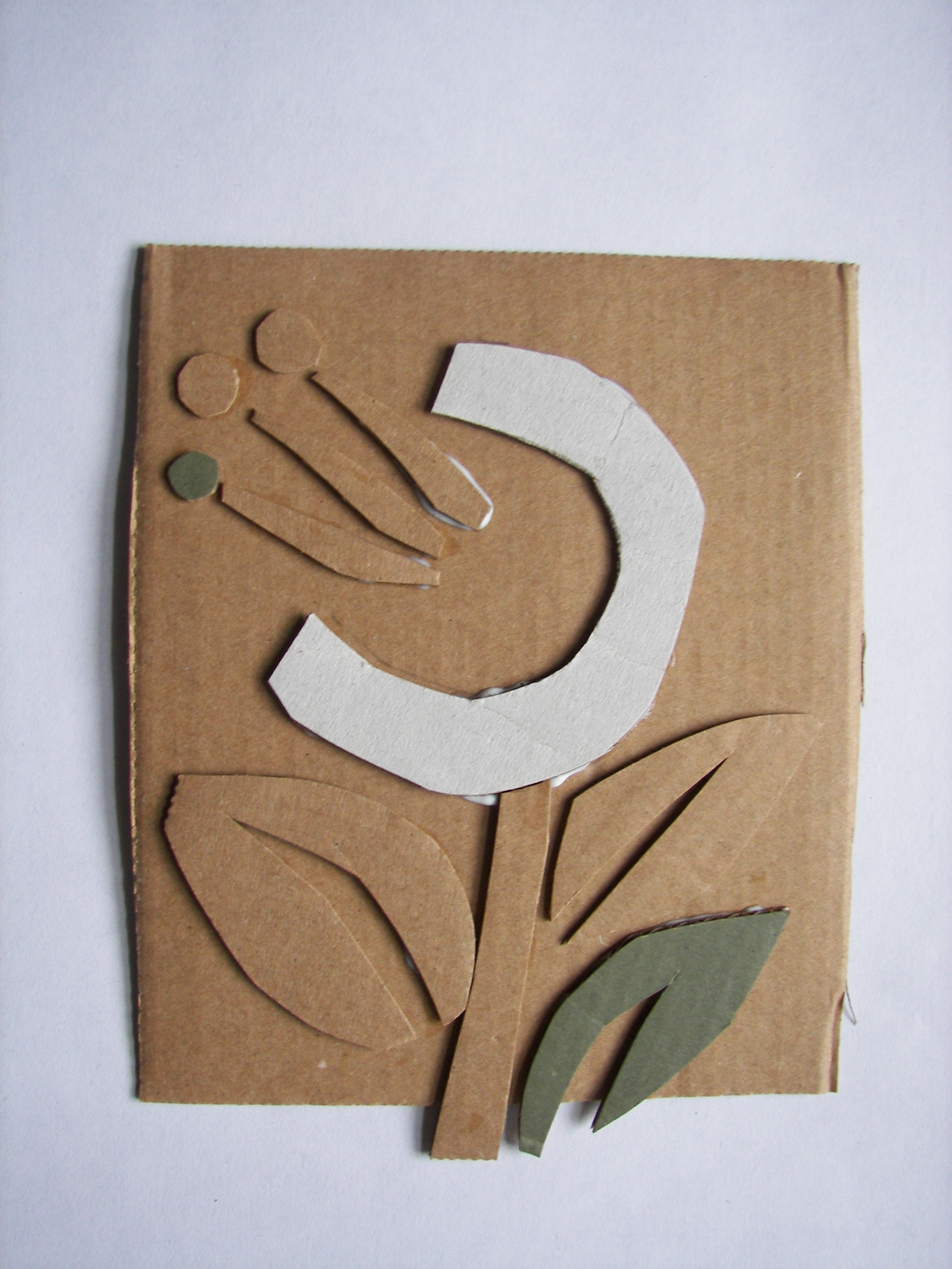 how to make name plate with cardboard